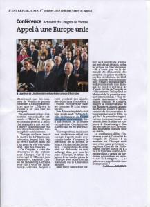 article Conférence Congrès de Vienne