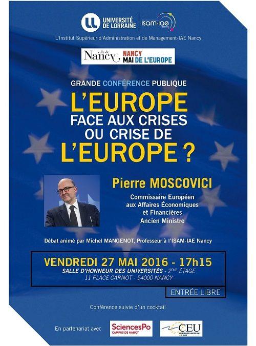 Grande conférence publique avec Pierre MOSCOVICI